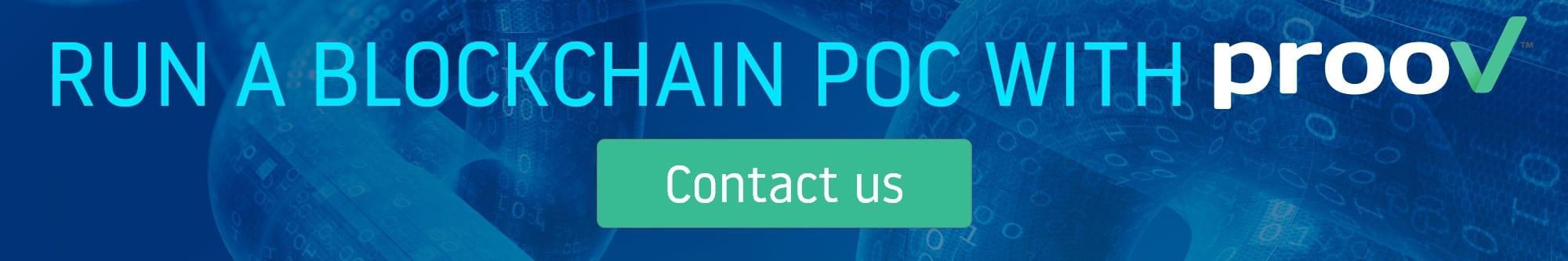 Blockchain PoC - contact prooV